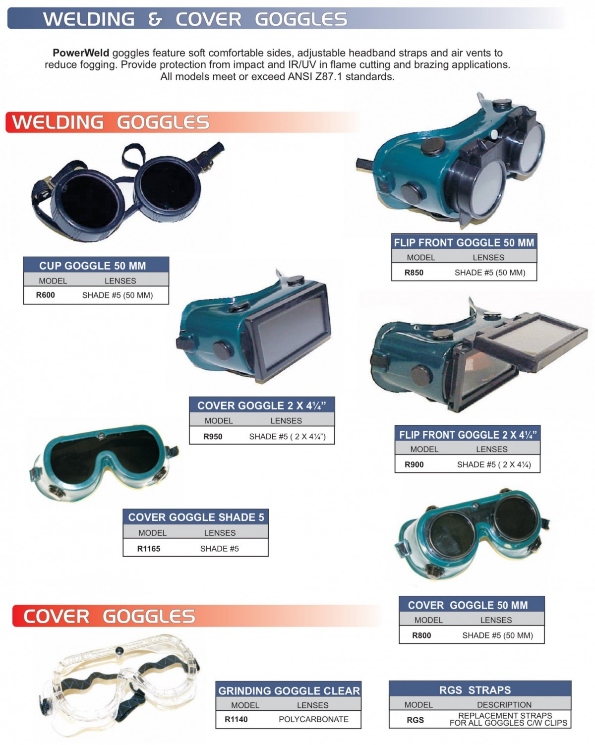Welding & Cover Goggles